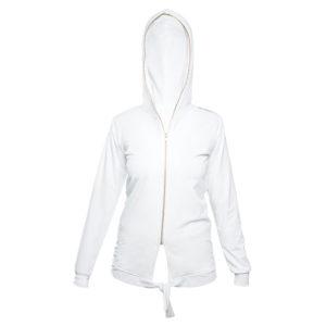 LIMBA Ladies Zip Bow Top - White