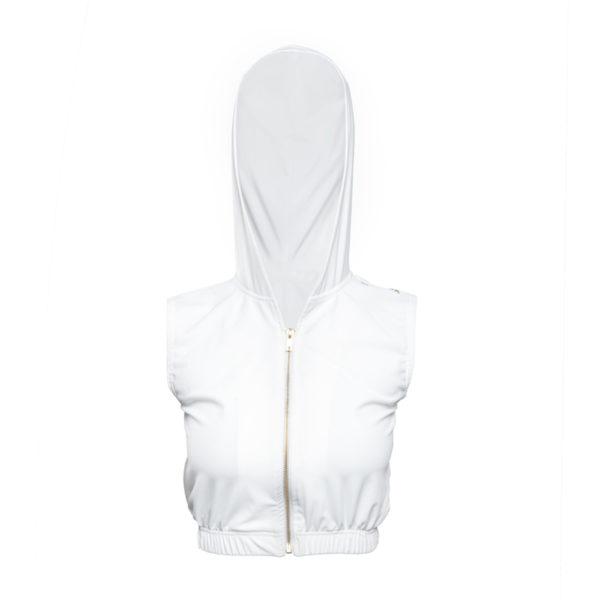 LIMBA Ladies Crop Hood - White