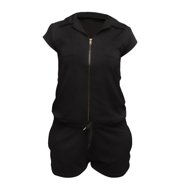 LIMBA Ladies Short Jumpsuit - Black
