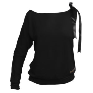 LIMBA Ladies Single Sleeved Top - Black