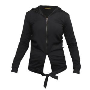 LIMBA Ladies Zip Bow Top - Black